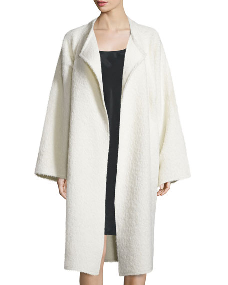 Helmut Lang Long Shaggy Alpaca-Blend Coat & Sleeveless