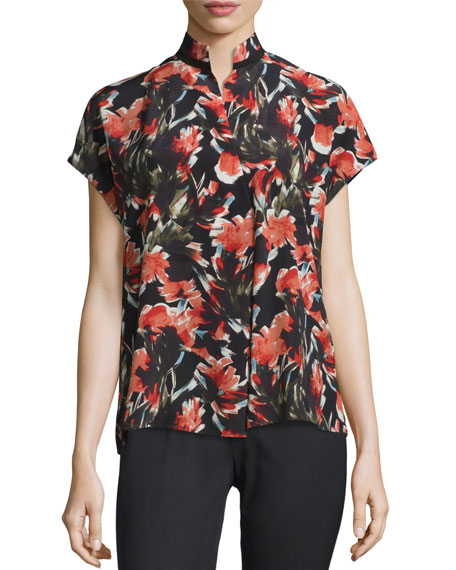 Lafayette 148 New YorkEloise Short Dolman-Sleeve Floral-Print