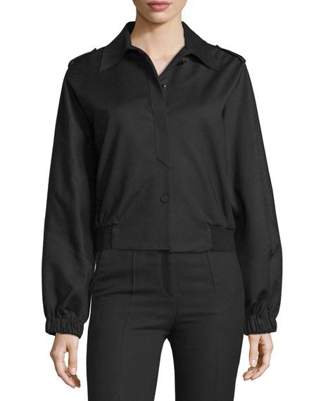 CoSTUME NATIONAL Button-Front Short Sports Jacket, Black