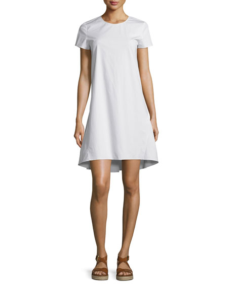 Theory Sandrin Light Poplin Short-Sleeve Dress
