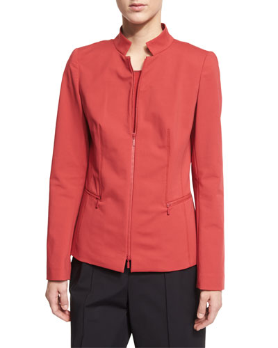 Mimi Zip-Front Jacket, Red Rock