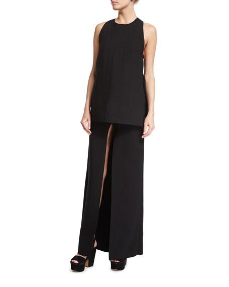Costume National Front-Slit Maxi Skirt, Black