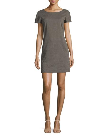 Theory Jamelya Crunch Wash Shift Dress