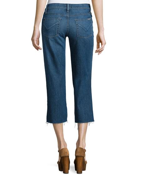Sammi Flare-Leg Cropped Jeans, Stingray