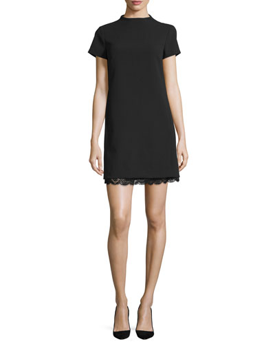Jasneaht Admiral Crepe Lace-Trim Dress
