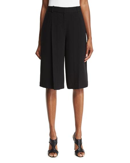 Diane von Furstenberg Asheton Crepe Culottes, Black