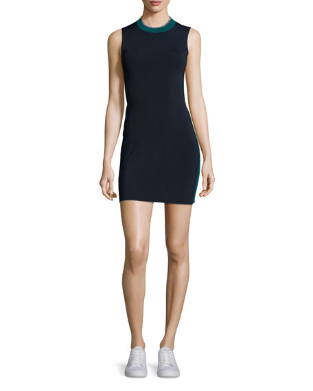 Rag & Bone Lucine Sleeveless Two-Tone Sheath Dress,