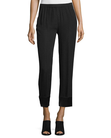 Costume National Slim-Leg Cropped Pants, Black