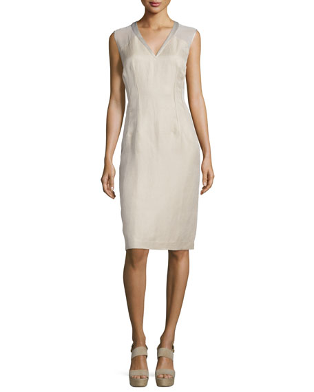 Lafayette 148 New York Jillesa V-Neck Sheath Dress,