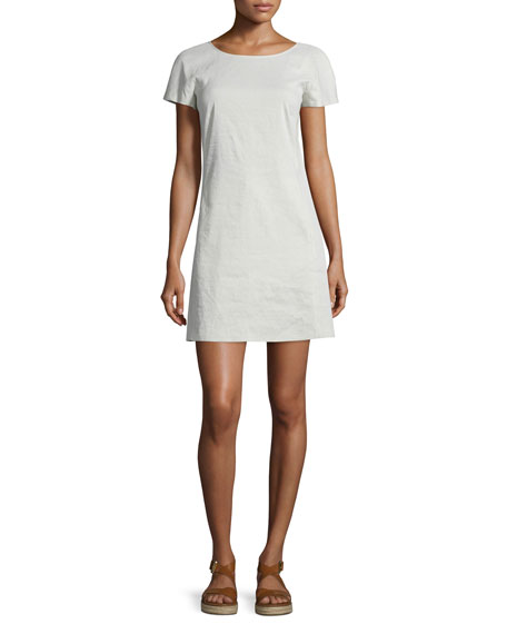 Theory Jamelya Crunch Wash Short-Sleeve Dress