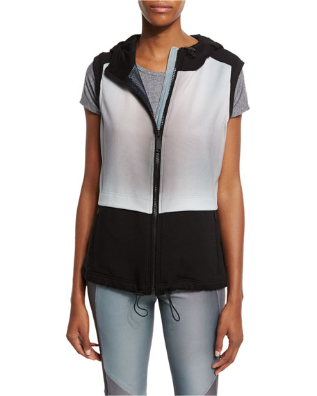 Elie Tahari Kalia Colorblock Hooded Sport Vest