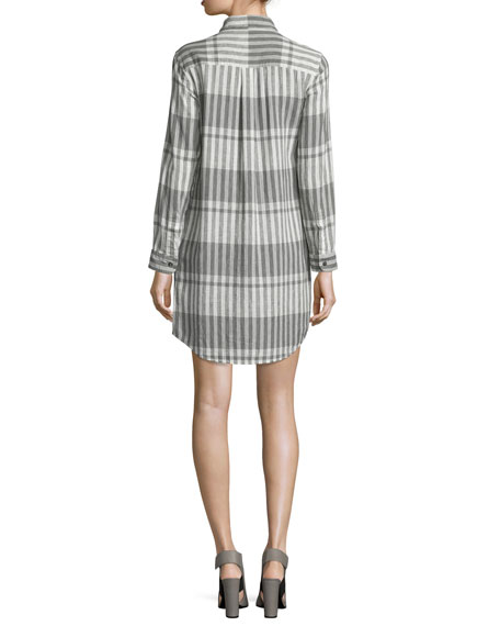 The Prep School Striped Shirtdress, Black Scarf Strip