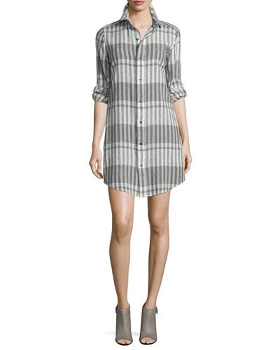 The Prep School Striped Shirtdress, Black Scarf Strip
