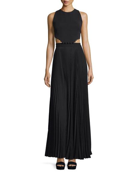A.L.C. Marco Sleeveless Cutout Maxi Dress, Black