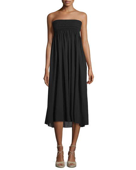 A.L.C. Randy Embroidered Strapless Sundress, Black