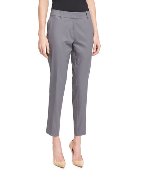 Lafayette 148 New York Skinny Cropped Pants, Cinder