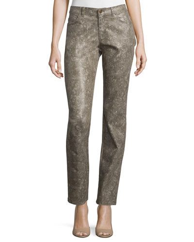 Five-Pocket Skinny Jeans, Hickory/Multi
