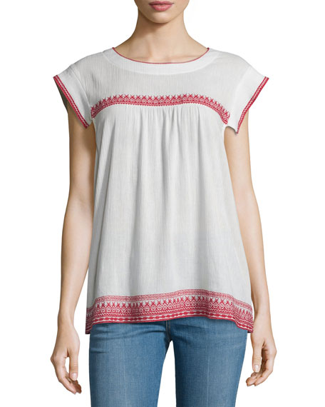 The Needle Point Embroidered Top