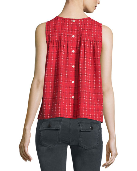 The Sweet Smock Sleeveless Top, Picnic Stitch