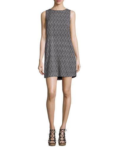 Leiston B Sleeveless Shift Dress, Caviar