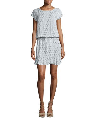 Quora Printed Blouson Dress