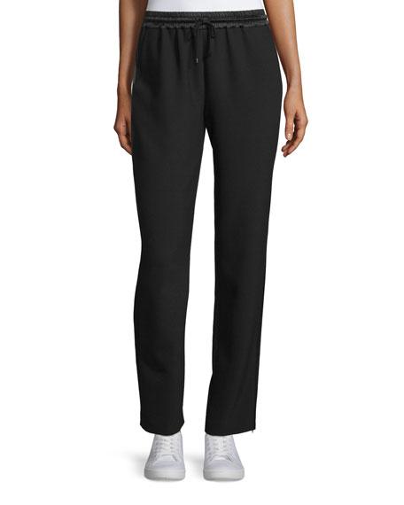Elizabeth and James Collier Silk-Trim Track Pants, Black
