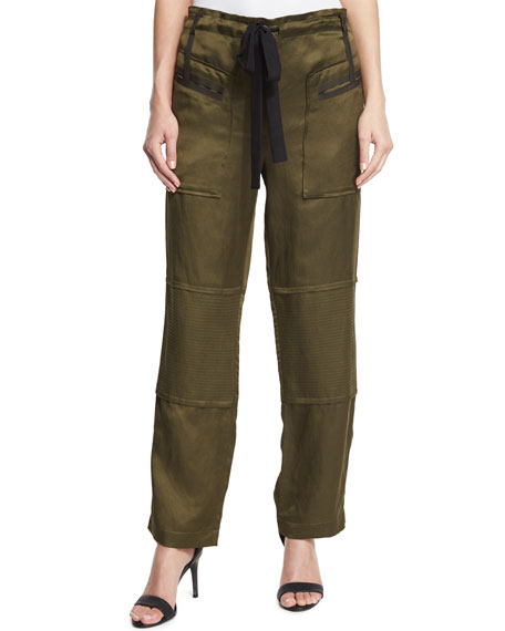Elizabeth and James Bode Drawstring Cargo Pants, Military