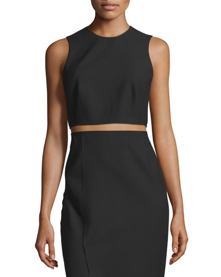 Elizabeth and James Bowen Sleeveless Crepe Cropped Top,