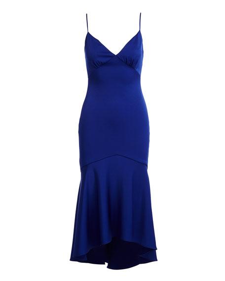 Sleeveless V-Neck High-Low Cocktail Dress
