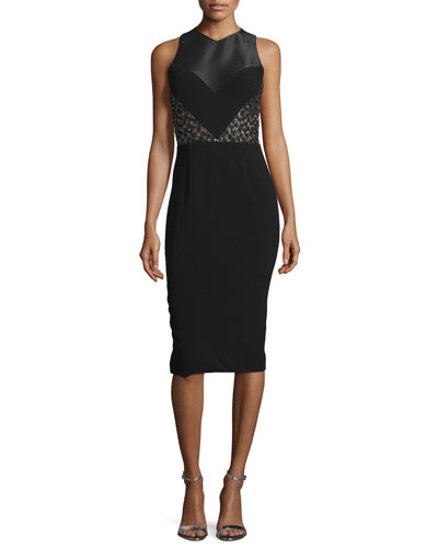 Sleeveless Paneled Racerback Sheath Dress