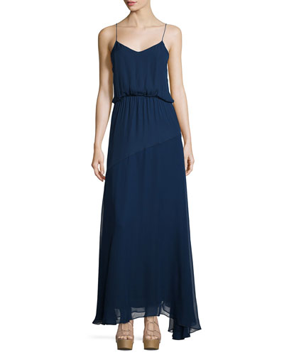 More than a Bridesmaid Silk Maxi Dress, Midnight
