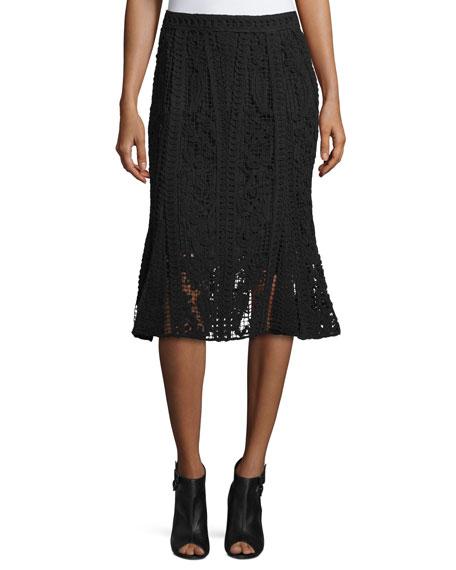 Kobi Halperin Crochet Lace Skirt