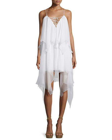 Haute Hippie Love Me Tonight Silk Handkerchief Dress,