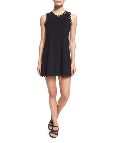 Rick Rack Scalloped-Neck Coverup Dress