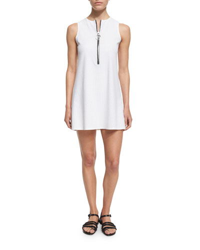 Punchout Sport Perforated Zip-Front Dress