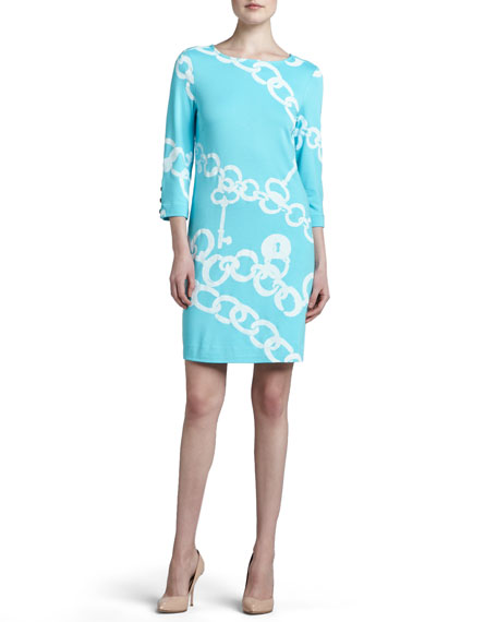 Lilly Pulitzer Jonah Posh Printed Ponte Dress