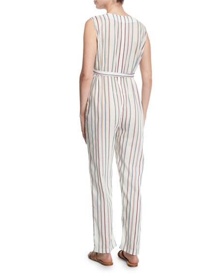 Alexa Striped V-Neck Jumpsuit