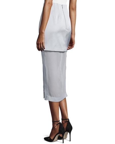 Northern Lights Layered Midi Skirt, Gray