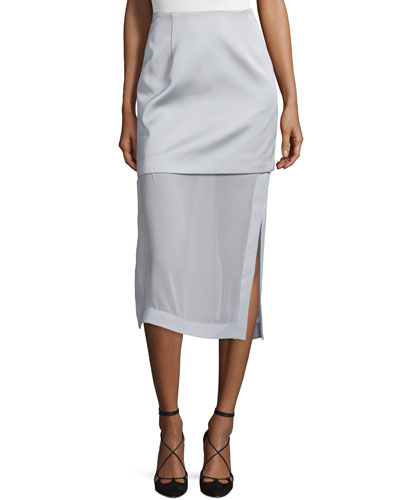 Northern Lights Layered Midi Skirt, Gray