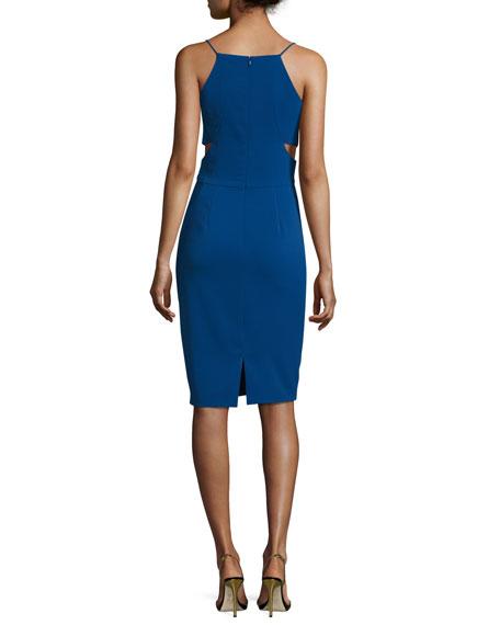 Sleeveless V-Neck Cutout Sheath Dress