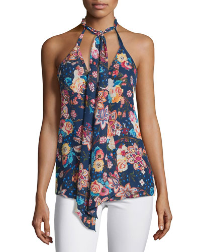 The Free Love Floral Silk Tank, San Franciscan Nights