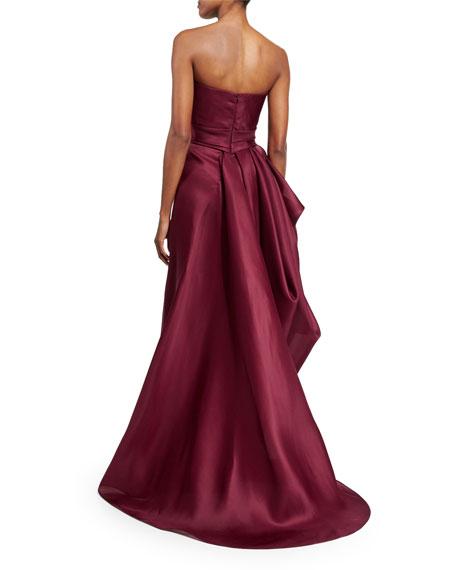 Gazaar Strapless Draped Gown, Merlot
