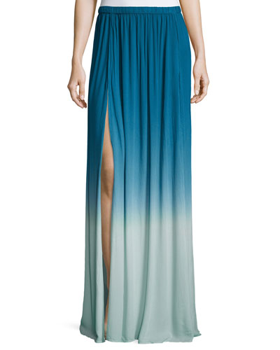 Noel Ombre Maxi Skirt, Pacific Blue Ombre