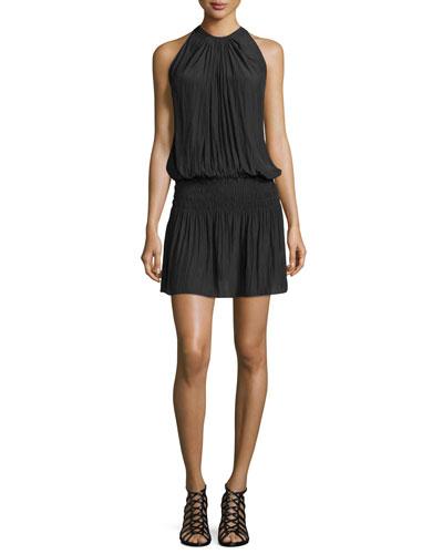 Paris Sleeveless Blouson Dress, Black