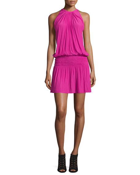 Ramy Brook Paris Sleeveless Blouson Dress, Paradise Pink