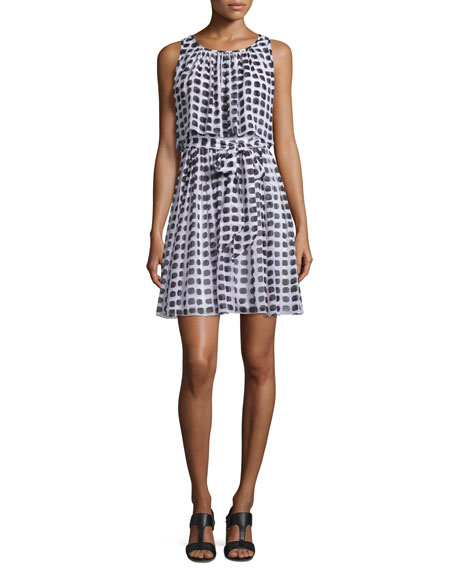 kate spade new york sleeveless printed silk popover
