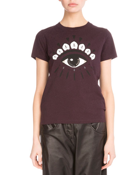 Light Single Jersey Eye T-Shirt, Maroon/Pearl