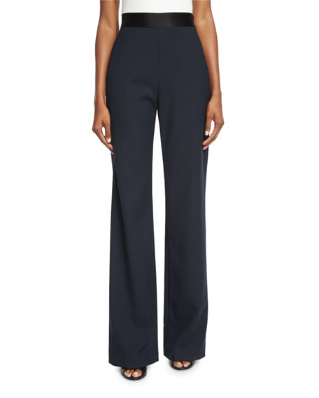 Opening Ceremony Focal Wide-Leg Crepe Pants, Ink