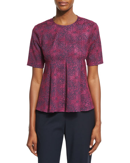 Opening Ceremony Medallion Jacquard Flared Penn Top &