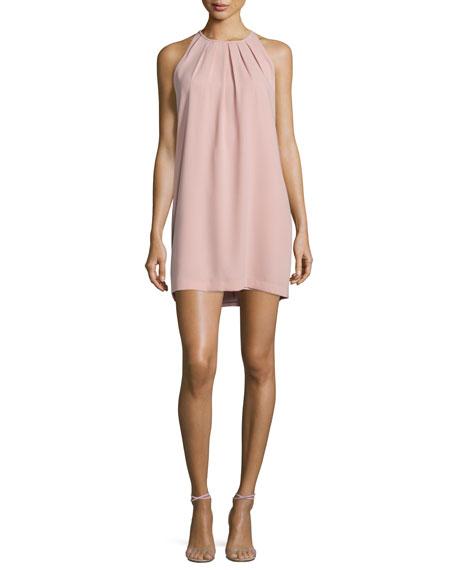BCBGMAXAZRIA Lynzie Sleeveless Shift Dress, Shadow Blush